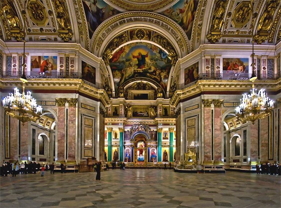 Afbeeldingsresultaat voor izaak kathedraal  binnen sint petersburg