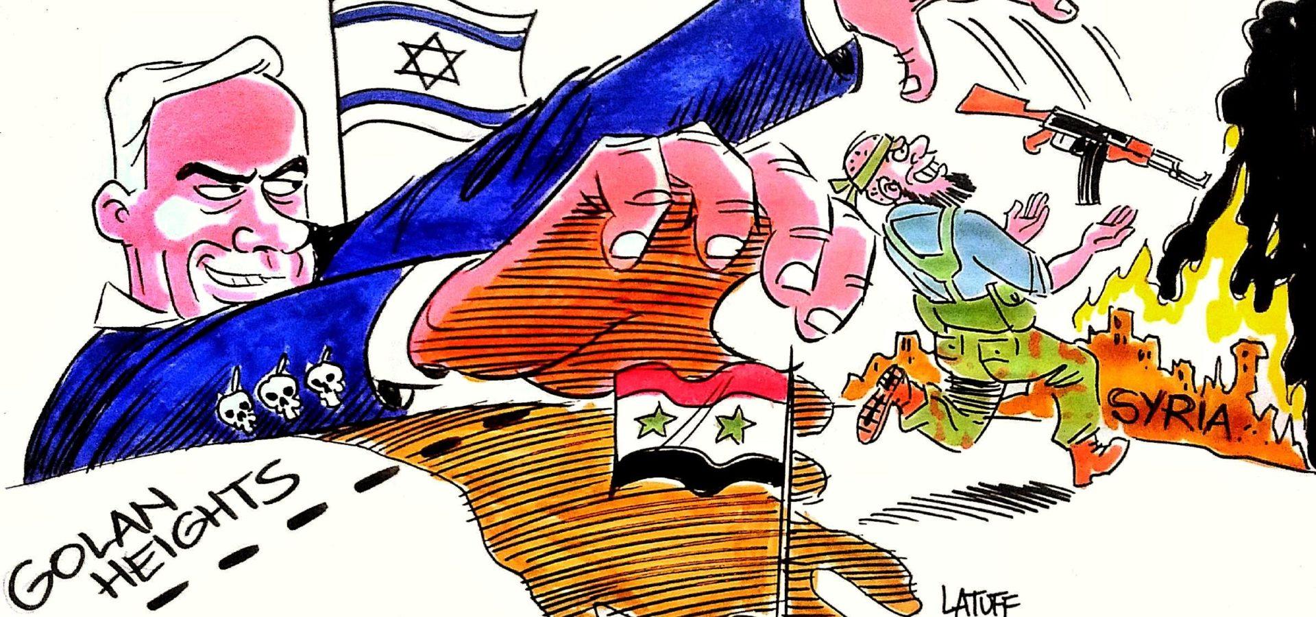 Afbeeldingsresultaat voor the occupation of the Golan heights cartoon
