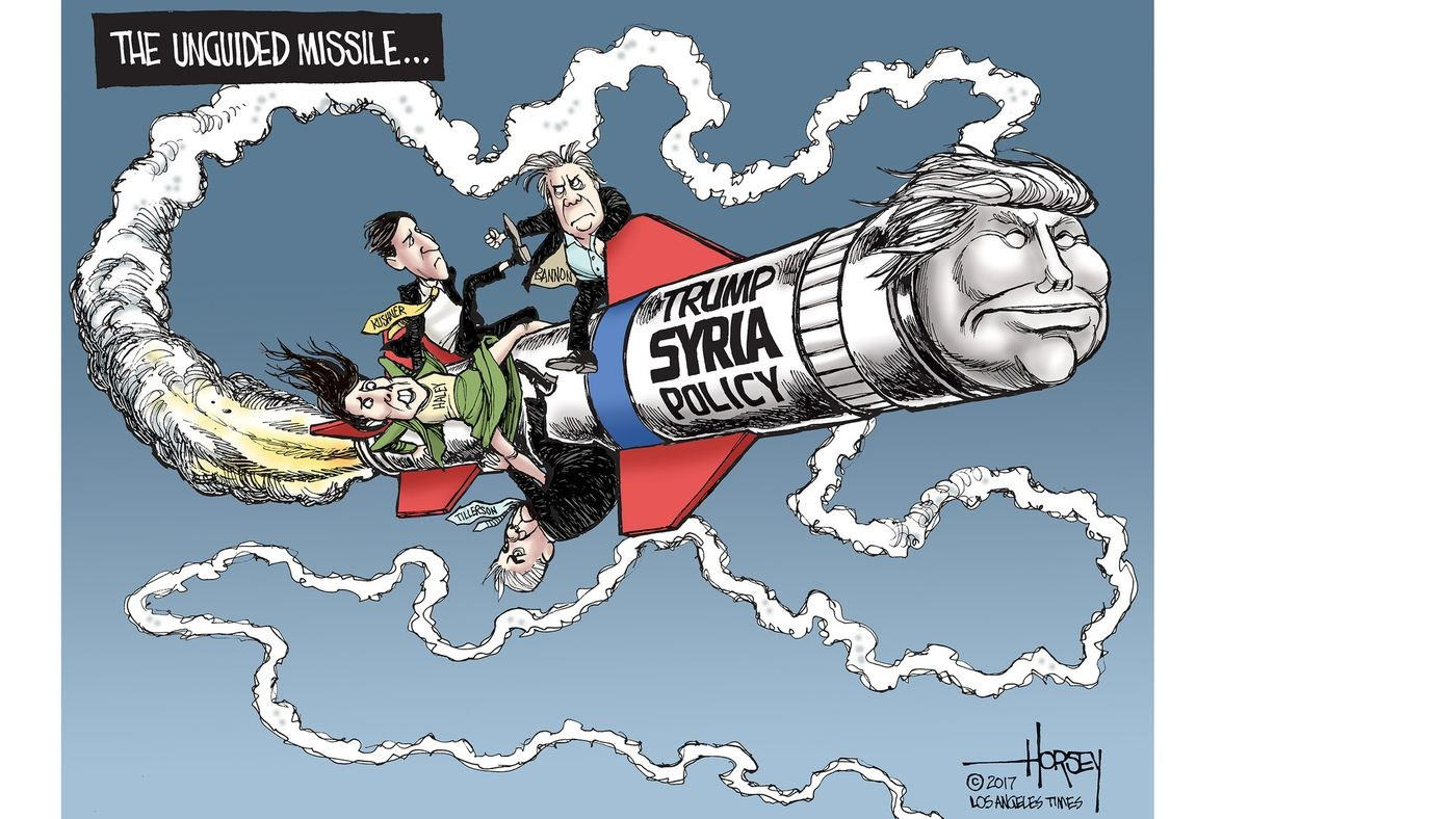 Afbeeldingsresultaat voor de VS wants to stay iN Syria cartoon