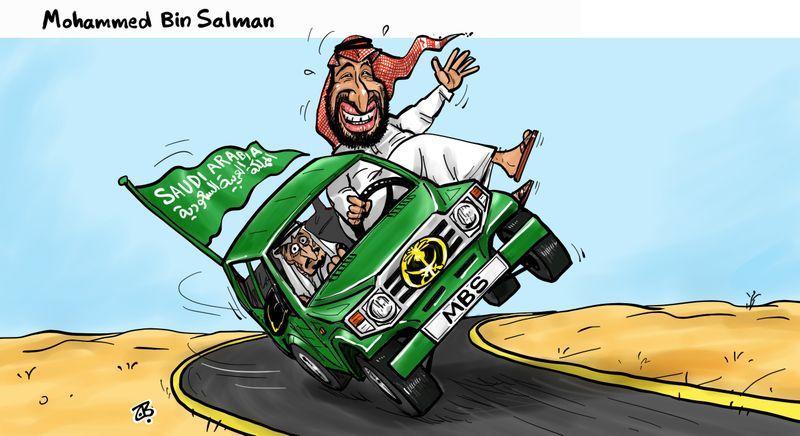 Afbeeldingsresultaat voor mohammed bin salman cartoon