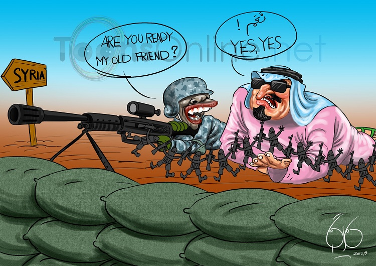 Afbeeldingsresultaat voor misleading press on syria cartoon